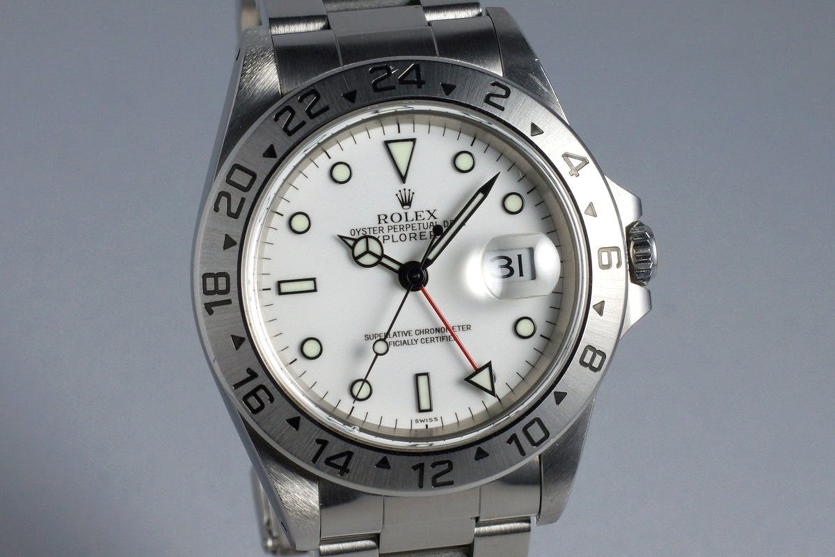 """Rolex Explorer II 16570: """"White"""" Hot Vintage Dual-Time for Summer Time"""