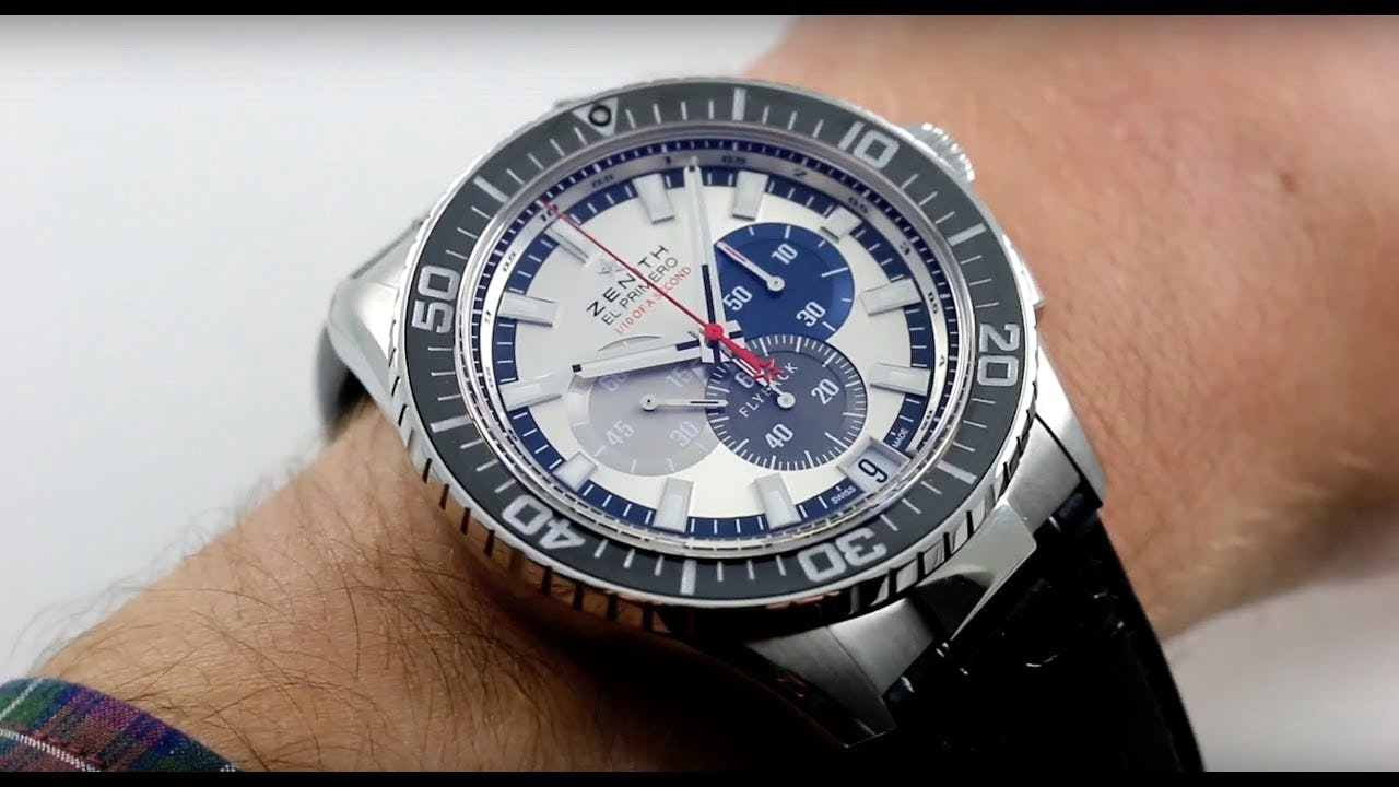 Zenith El Primero Stratos Flyback Striking 10th Limited Edition; Flyback In Black