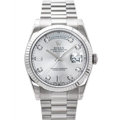 """Rolex Oyster Perpetual Day-Date: White Gold, Diamonds, and """"Presidential"""" Presence"""