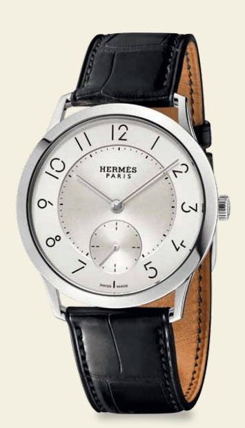 Hermès Thins Out: A Lean Typeface Graces A Slender Watch Collection