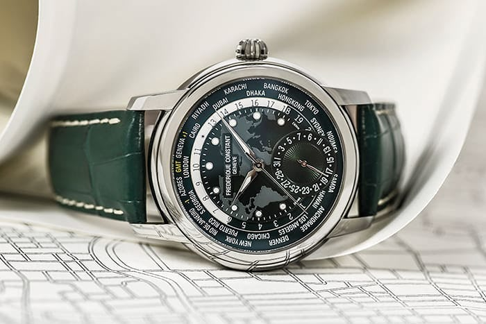 Frederique Constant World Time Green Dial