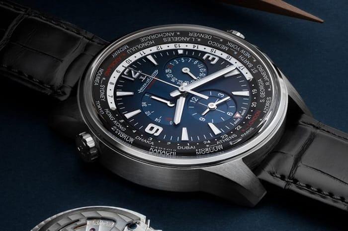 JLC Polaris Chronograph World Time Blue Dial