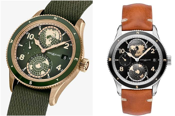 Bronze and Steel Montblanc 1858 World Time