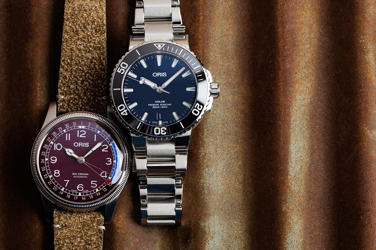 Two entry level oris watches
