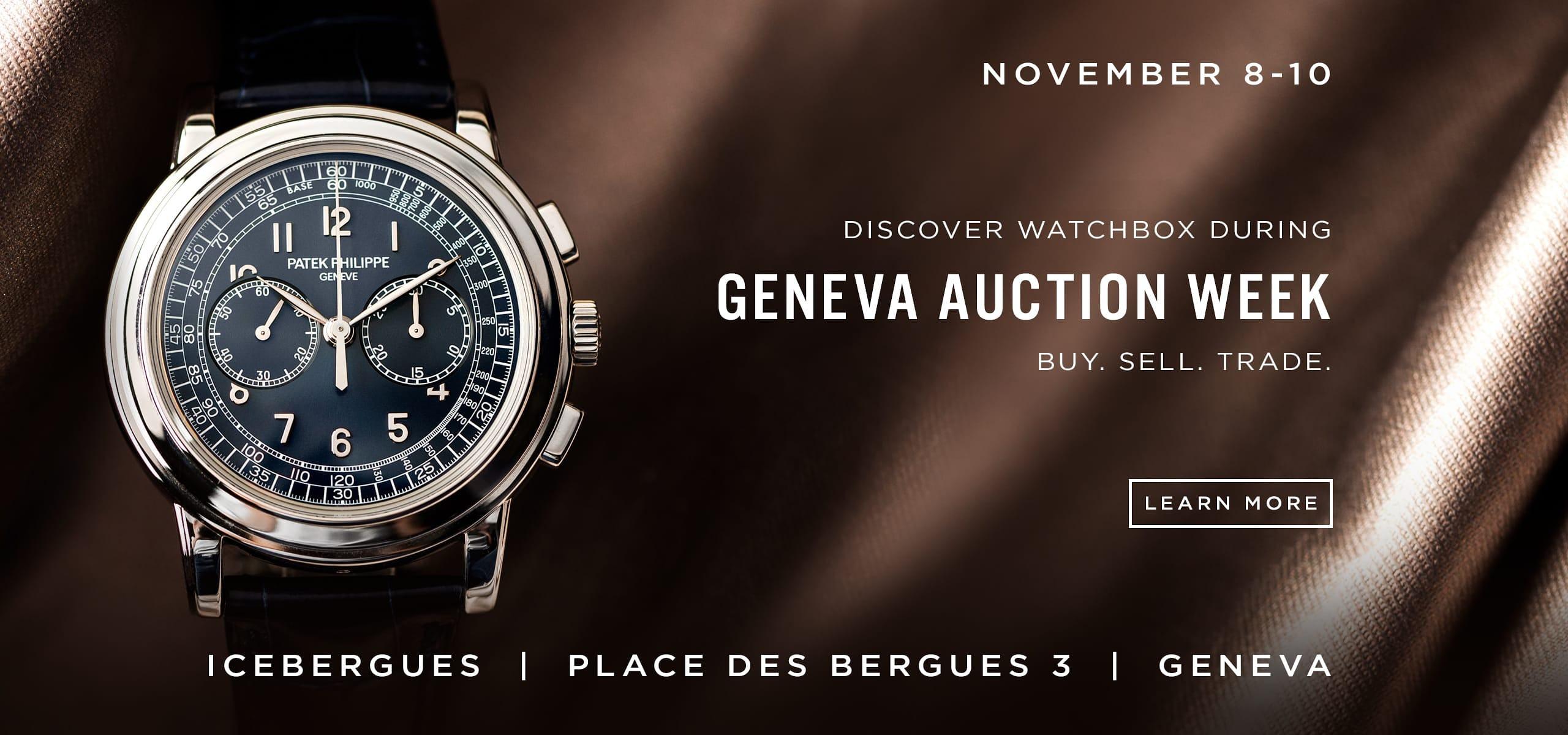 WatchBox at Geneva Auction Week