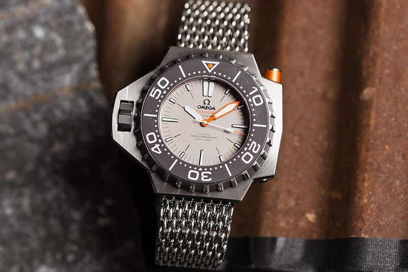 Titanium Omega Seamaster Ploprof with bracelet