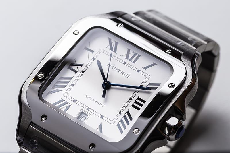 White dial Cartier Santos