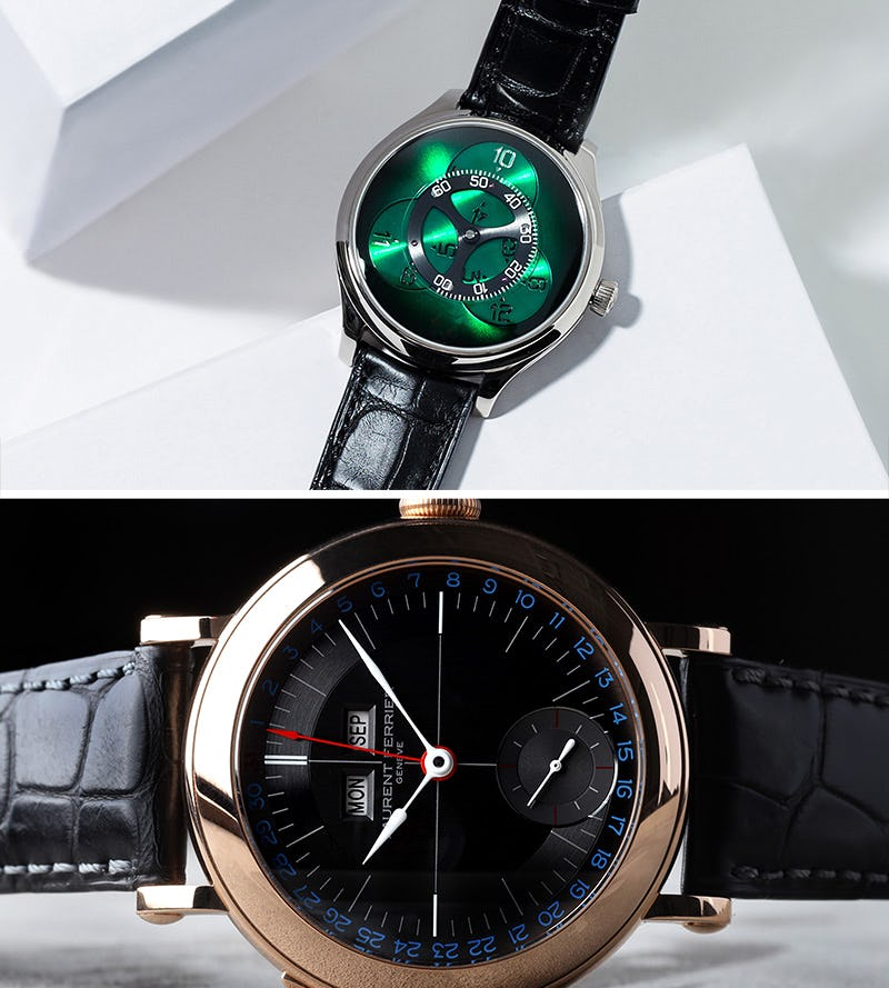 laurent ferrier and moser watch