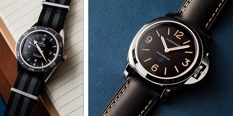 panerai and omega watches