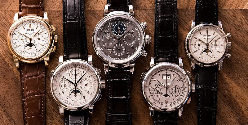 Group of Perpetual Calendar Watches