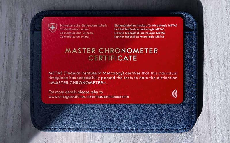 Omega Master Chronometer Card