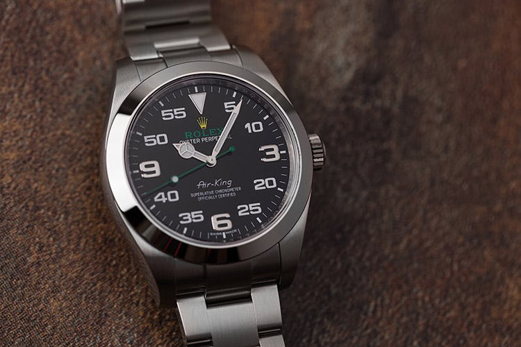Stainless Steel Rolex-Air-King