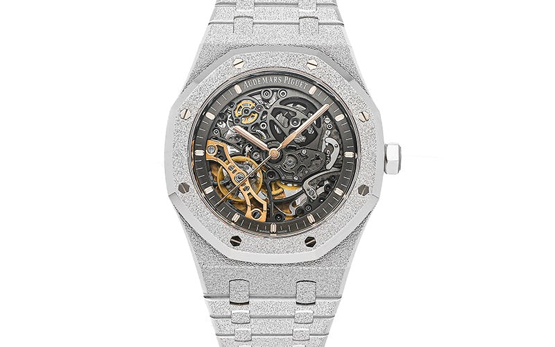Frosted Gold Audemars Piguet Openworked White Gold