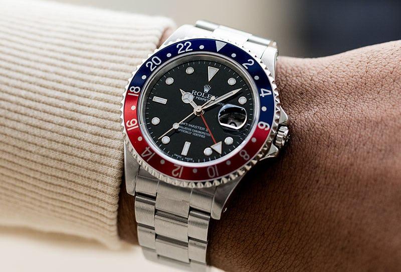 Rolex GMT Master II Pepsi Wrist Shot
