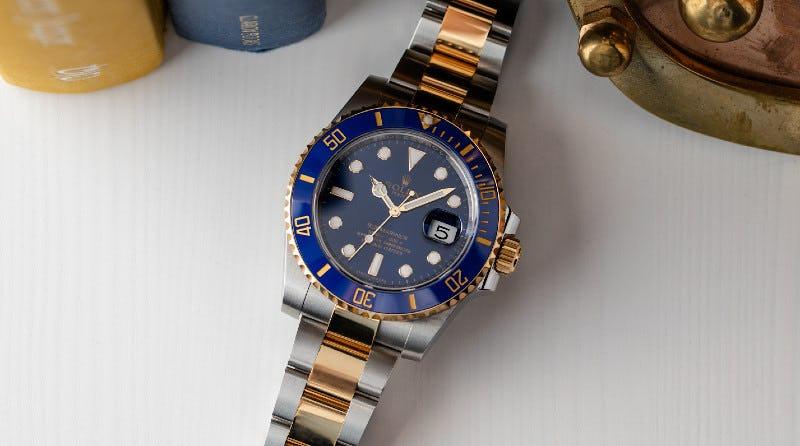 Rolex Submariner Date Blue Dial Two Toned Bracelet 116613LB