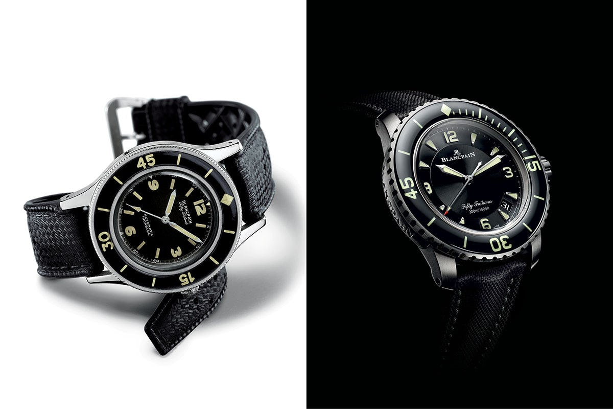 Blancpain Fifty Fathoms original and reissue