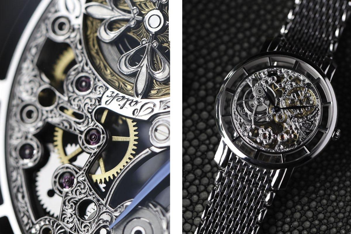 Details of the Patek Philippe 5180 Skeleton dial watch