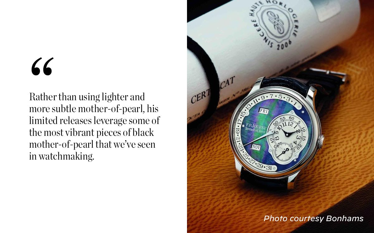 F.P. Journes-Octa-Calendrier-Sincere Mother of Pearl Dial
