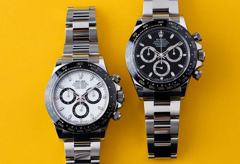 White and Black dial Daytona