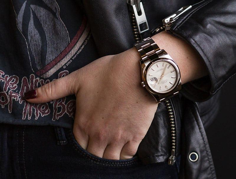 Woman Wearing Rolex Datejust