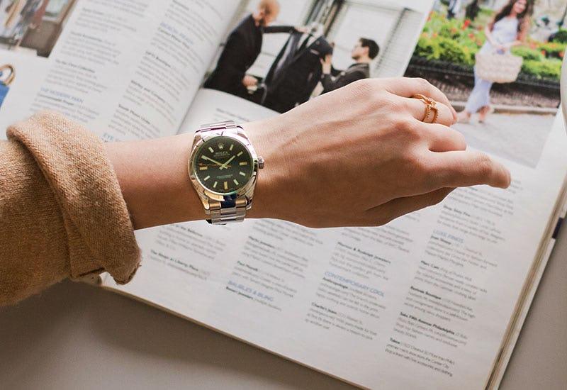 Woman Wearing Rolex Milgauss 116400GV